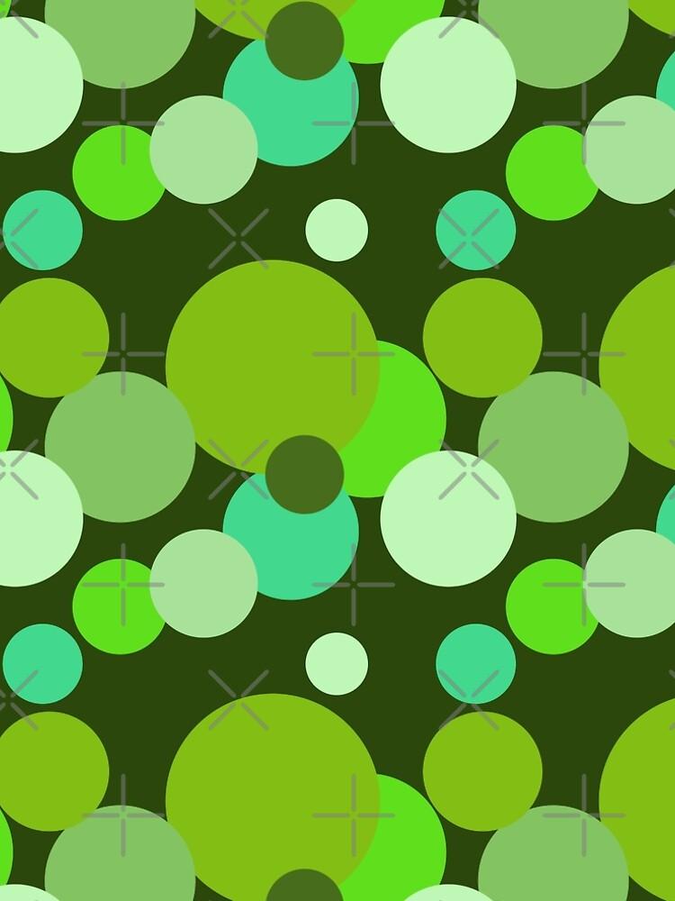 Große 70er Jahre Polka Dots in grün von pASob-dESIGN
