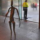 Figures at the gallery by Peter Hammer