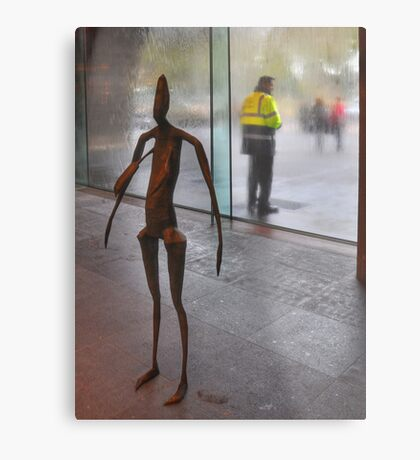Figures at the gallery Metal Print