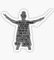 greatest showman word art Sticker
