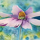 Pink Flower Watercolor Art by Sandra Connelly