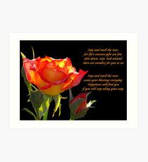 Remember to Stop and Smell the Roses Art Print