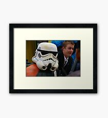 Your Face Is Familiar, But I Can't Remember Your Name Framed Print