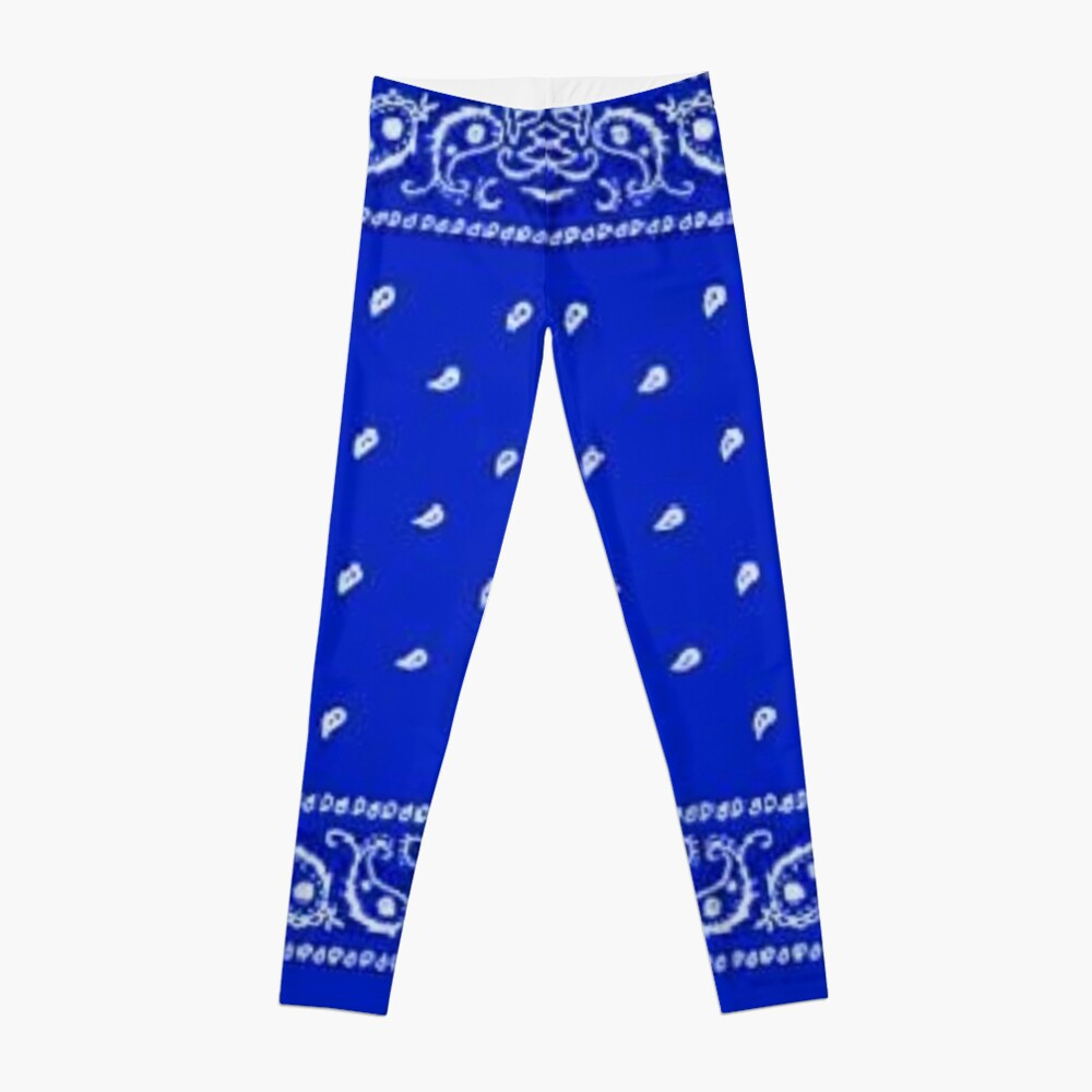 Blue Bandana Leggings