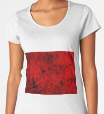Grunge style cool, unique modern abstract painting art design Women's Premium T-Shirt