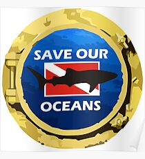 Save Our Oceans - Whale Shark Poster