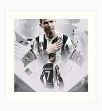 Cristiano Ronaldo - Juventus Art Print