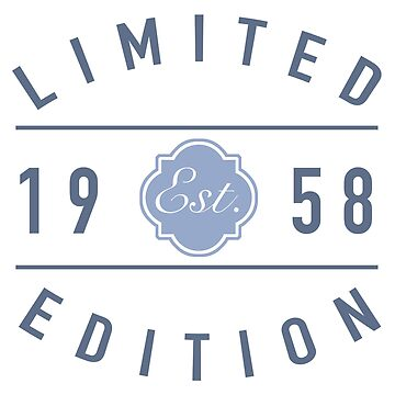 Est. 1958 Limited Edition by thepixelgarden