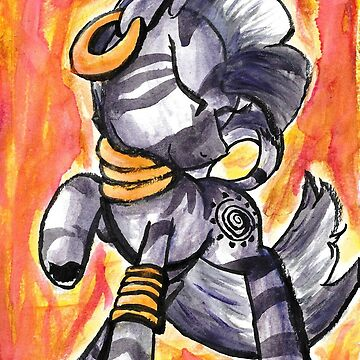 Watercolor Zecora by autobotchari