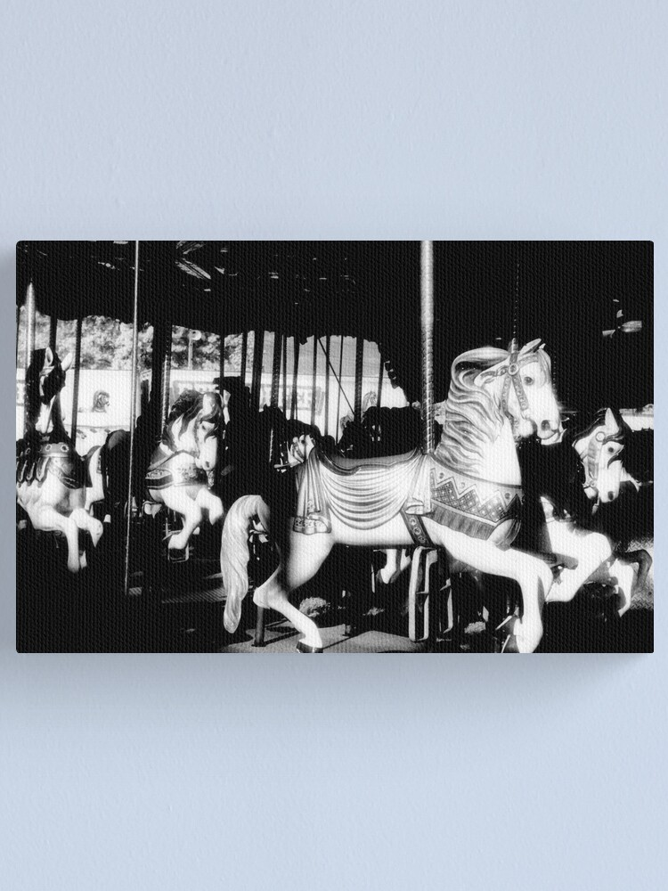 Alternate view of Carousel in Infrared Canvas Print