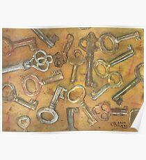 Assorted Skeleton Keys Poster