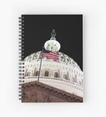 US Capitol Building at Night Spiralblock