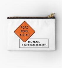 Road Work Ahead Studio Pouch