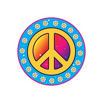 Peace Symbol - hippie Style by TheCrossroad