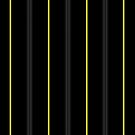 Onyx & Yellow Pin Stripes by Serdd