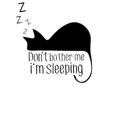 Sleeping Cat (black) by Tanastish