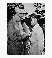 Douglas MacArthur Awarding DSC Medal - WWII Photographic Print