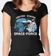 United States Space Force Shirt Fitted Scoop T-Shirt