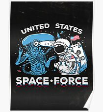 United States Space Force Shirt Poster