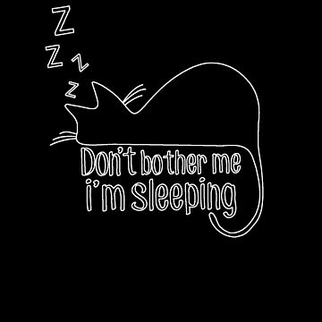 Sleeping Cat (Silhouette) by Tanastish