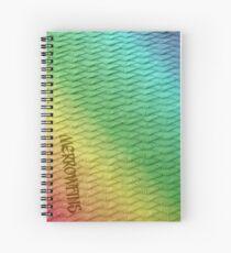 Scaled Rainbow Spiral Notebook