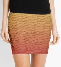Red scaled Gradient Mini Skirt