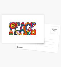 Psychedelic Peace Postcards