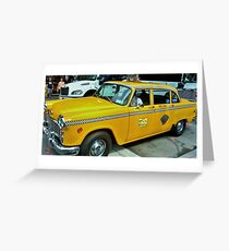 New York Taxi Cab  Greeting Card