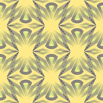 Yellow blue Deco by fuzzyfox
