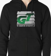 Edmonton Auto - Green & White - Slotted Up Zipped Hoodie