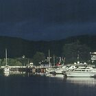 Boats at Fort Augustus on Caledonian Canal Scotland 198409140041  by Fred Mitchell
