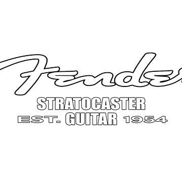 Fender Strat Guitar EST. 1954 by mugenjyaj
