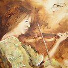 Trish with violin by Mick Kupresanin
