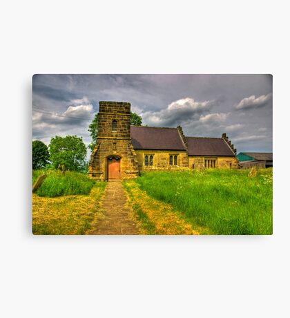 St Mary Church - Marton in the Forest Canvas Print