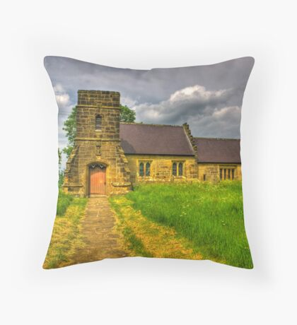 St Mary Church - Marton in the Forest Throw Pillow