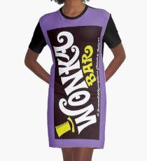 Willy Wonka Chocolate Bar Graphic T-Shirt Dress