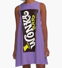 Willy Wonka Chocolate Bar A-Line Dress