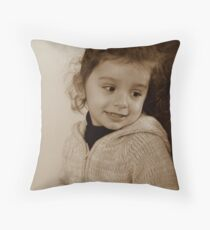 should I smile ? Throw Pillow