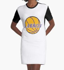 King LABron Basketball Graphic T-Shirt Dress