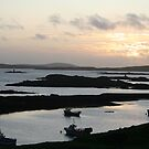 Sunset at Leverburgh, Harris, Scotland by Teuchter