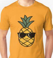Ananas mit Sonnenbrille Unisex T-Shirt