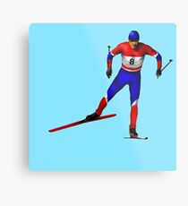 Cross-country skiing Metal Print