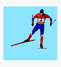 Cross-country skiing Photographic Print