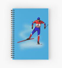 Cross-country skiing Spiral Notebook