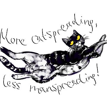 More Catspreading, Less Manspreading! by lyle23