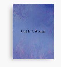God Is A Woman - Paint - Black Canvas Print
