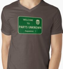 Welcome To Parts Unknown Mens V-Neck T-Shirt
