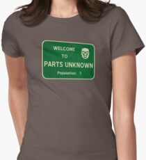 Welcome To Parts Unknown Womens Fitted T-Shirt