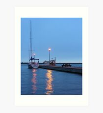 reflections on the st. lawrence Art Print