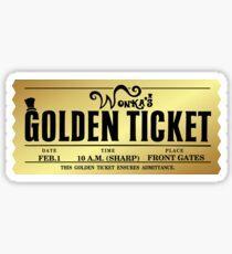 Wonka's Golden Ticket Sticker